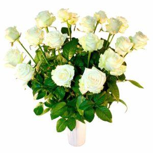 Valge roos 70cm