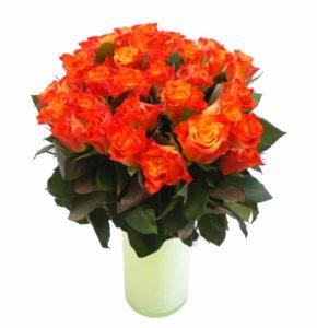 Oranž roos 50cm