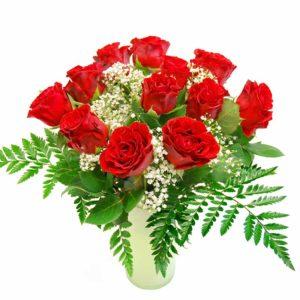 Kimp roosidest kipslilledega