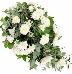 Leinakimp valgete lilledega