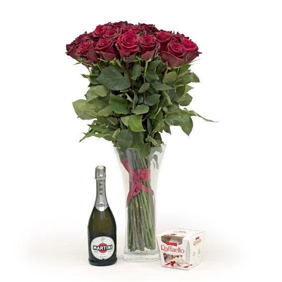 20 pikka punast roosi M108